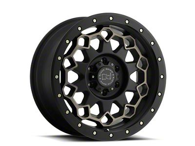 Black Rhino Diamante Matte Black Machined 6-Lug Wheel - 17x9 (99-18 Silverado 1500)