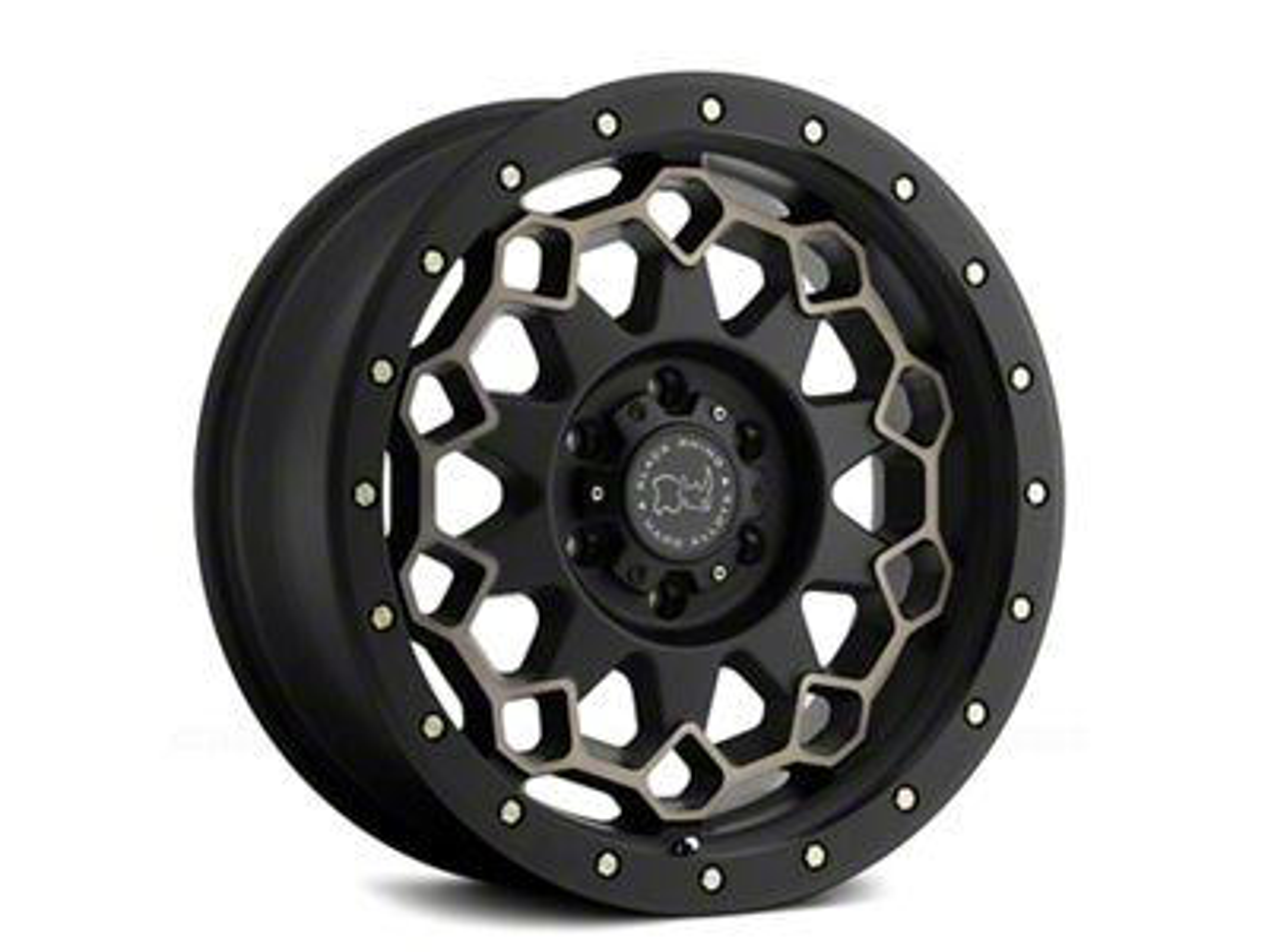 Black Rhino Diamante Matte Black Machined 6-Lug Wheel - 18x9 (99-18 Silverado 1500)
