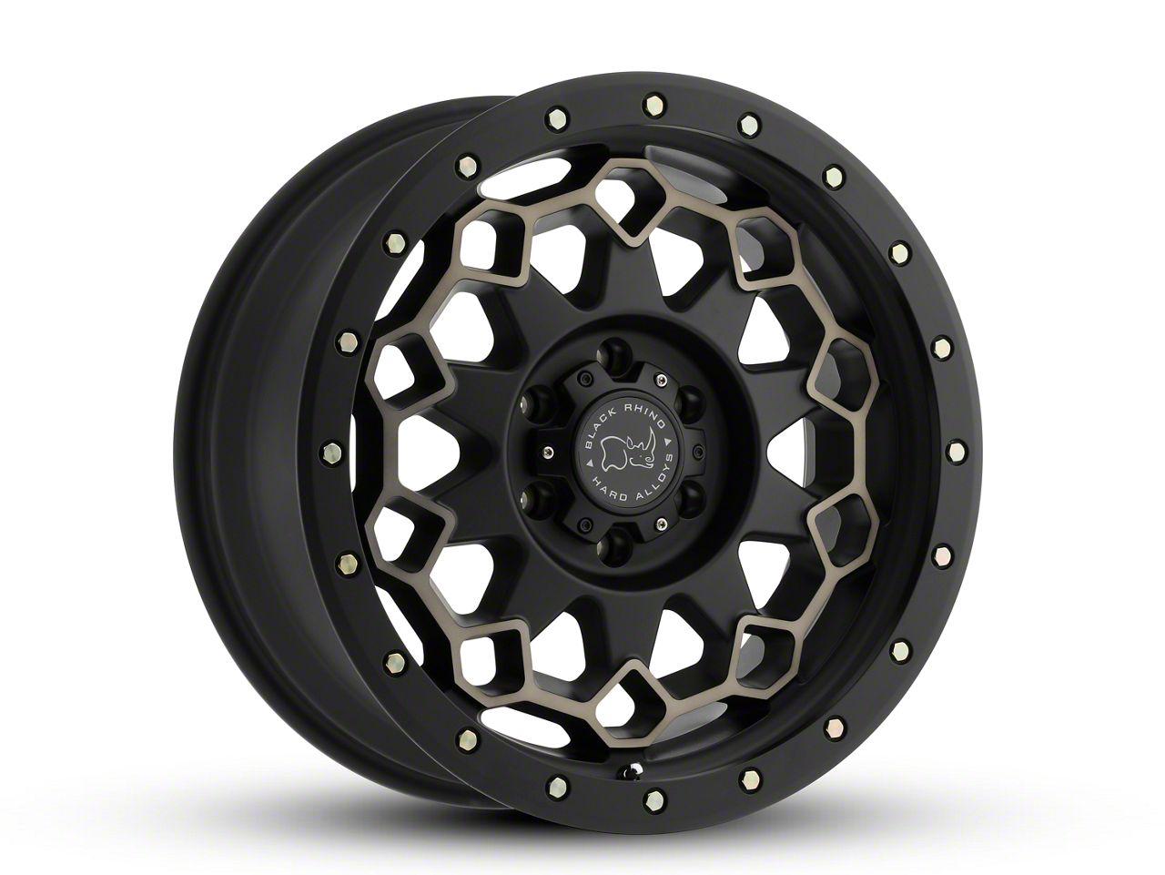 Black Rhino Diamante Matte Black Machined 6-Lug Wheel - 20x9 (99-18 Silverado 1500)
