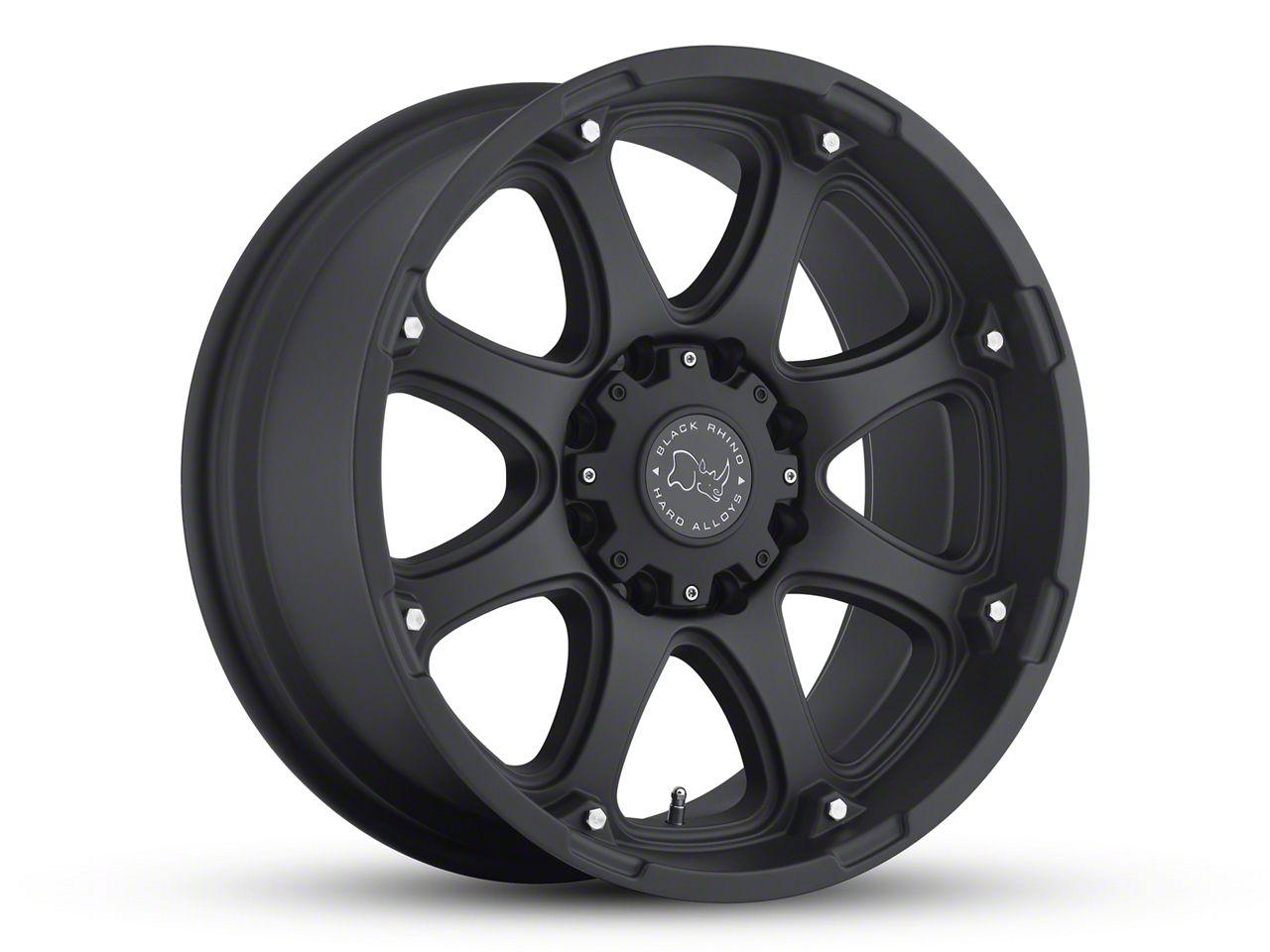 Black Rhino Glamis Matte Black 6-Lug Wheel - 18x9 (99-18 Silverado 1500)