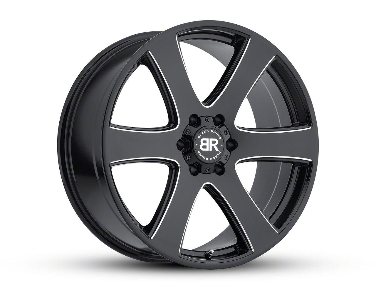 Black Rhino Haka Gloss Black Milled 6-Lug Wheel - 22x9.5 (99-18 Silverado 1500)