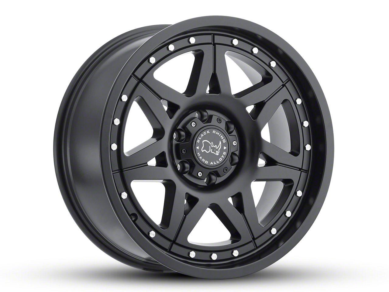 Black Rhino Hammer Matte Black 6-Lug Wheel - 17x9 (99-18 Silverado 1500)