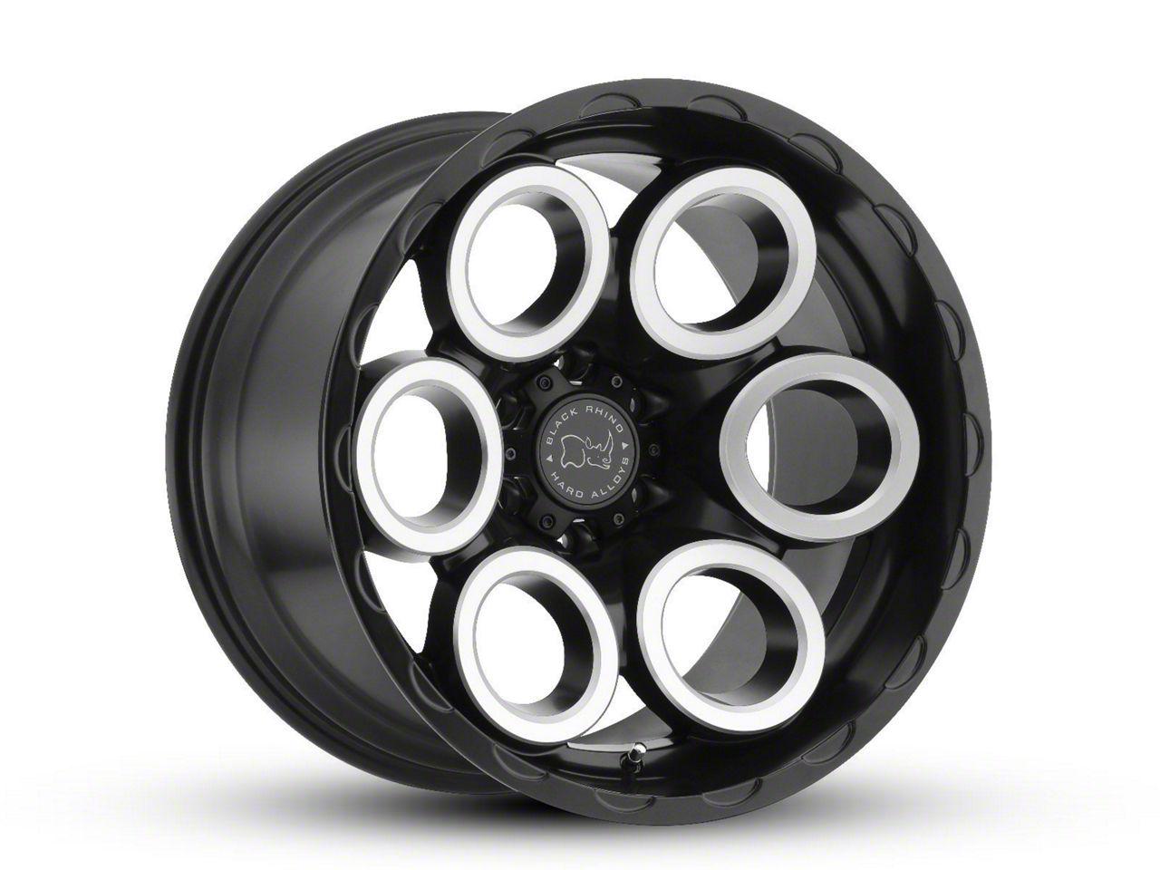 Black Rhino Magnus Matte Black Machined 6-Lug Wheel - 17x9.5 (99-18 Silverado 1500)