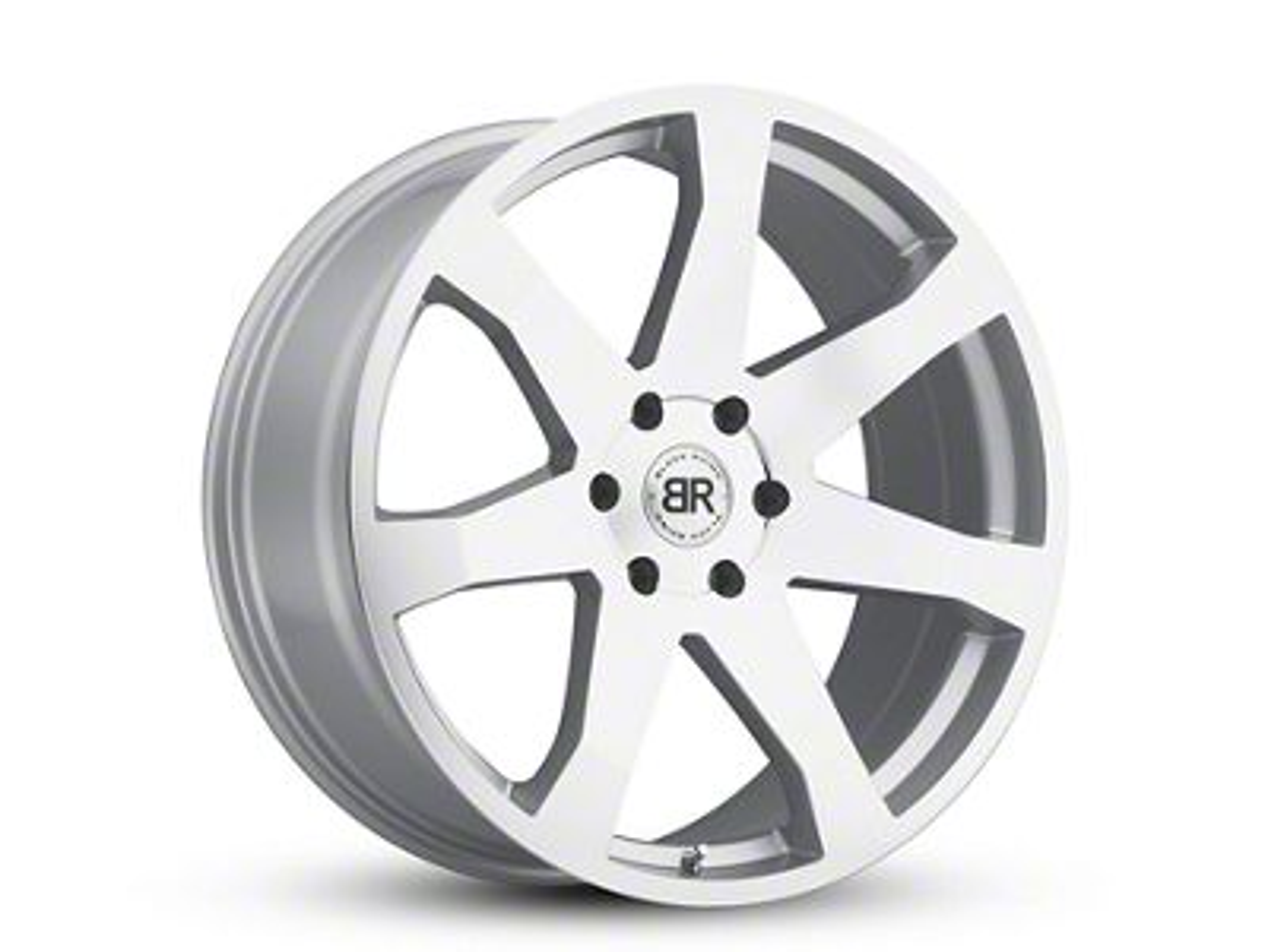 Black Rhino Mozambique Silver 6-Lug Wheel - 22x9.5 (99-18 Silverado 1500)