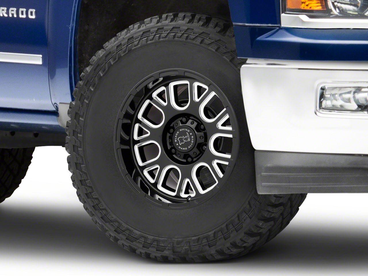 Black Rhino Pismo Gloss Black Milled 6-Lug Wheel - 17x9.5 (99-18 Silverado 1500)