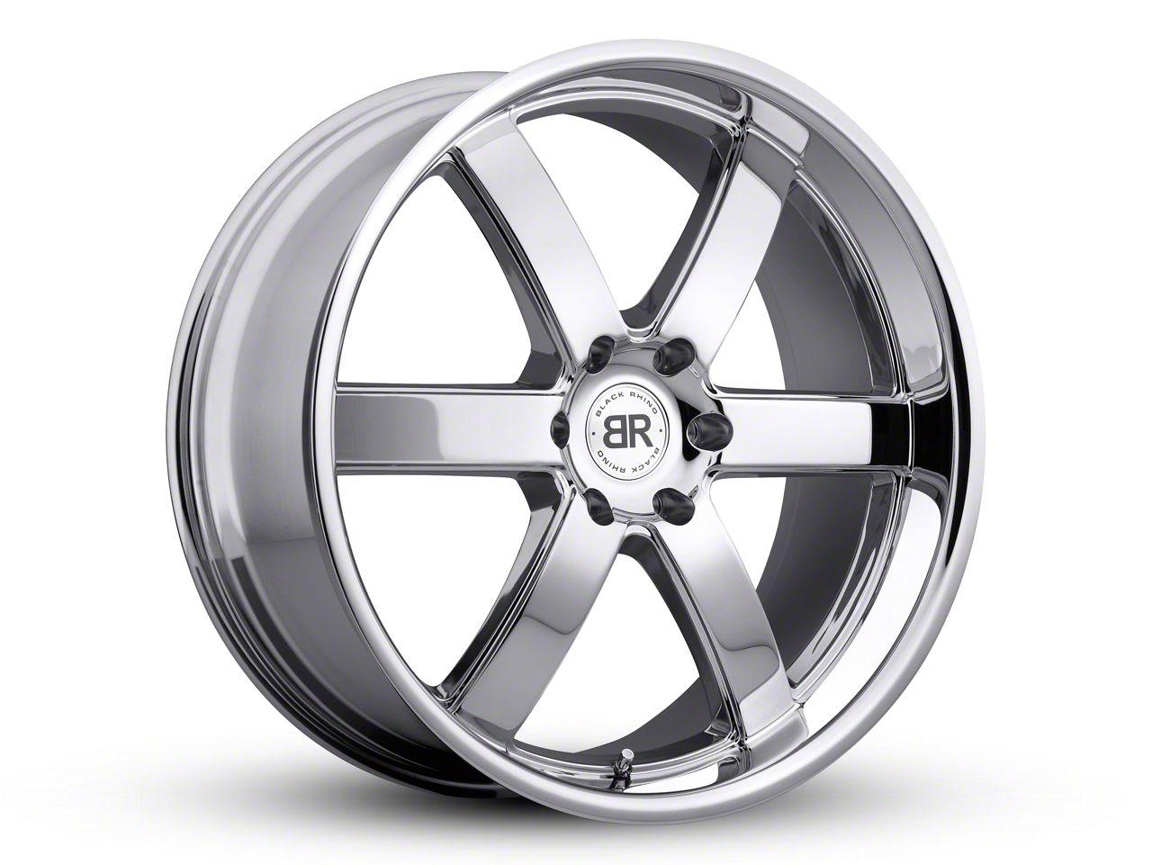Black Rhino Pondora Chrome 6-Lug Wheel - 22x9.5 (99-18 Silverado 1500)