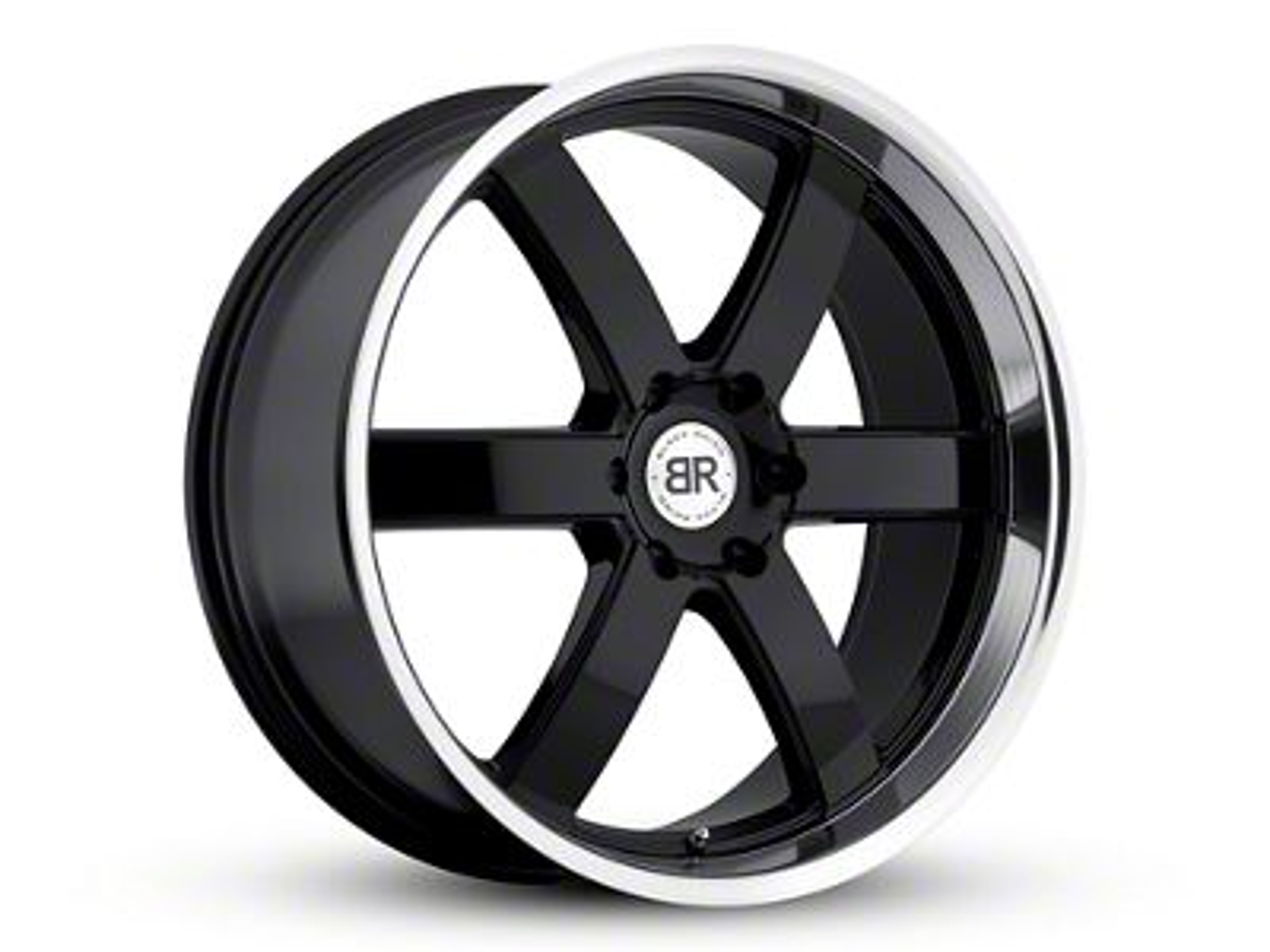 Black Rhino Pondora Gloss Black Machined 6-Lug Wheel - 24x10 (99-18 Silverado 1500)