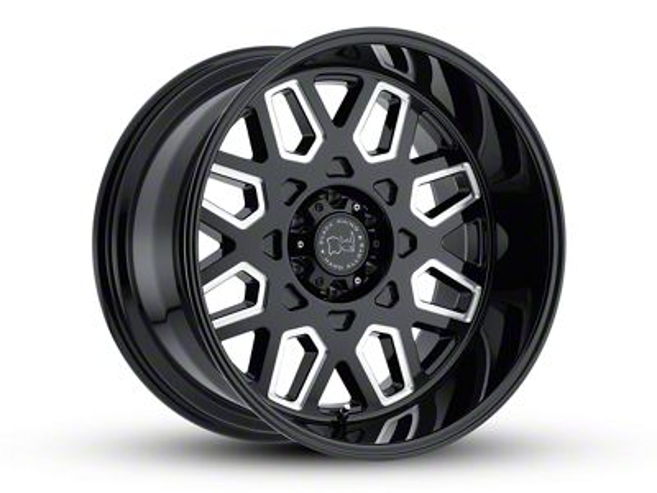 Black Rhino Predator Gloss Black Milled 6-Lug Wheel - 20x12 (99-18 Silverado 1500)