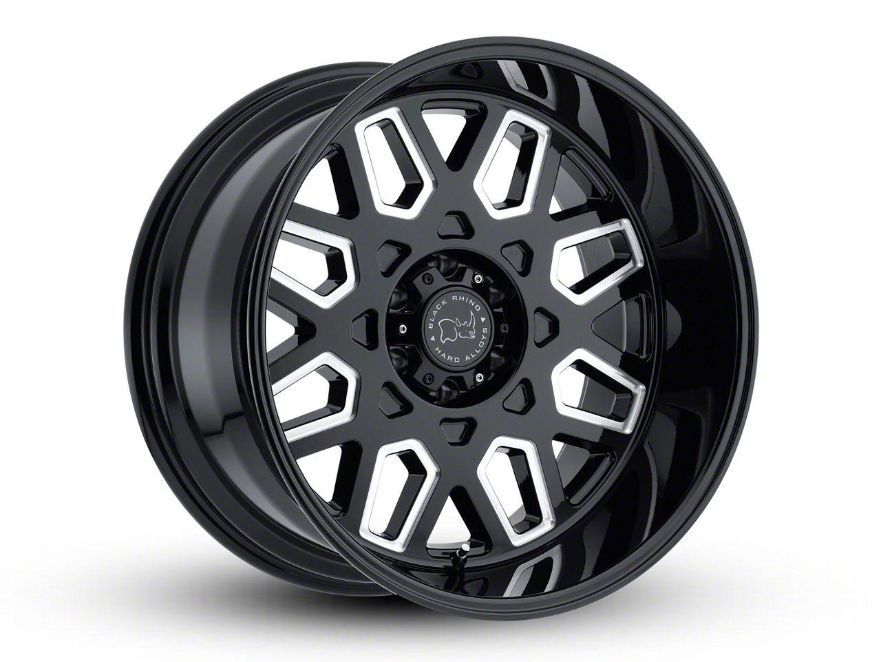 Black Rhino Predator Gloss Black Milled 6-Lug Wheel - 22x12 (99-18 Silverado 1500)
