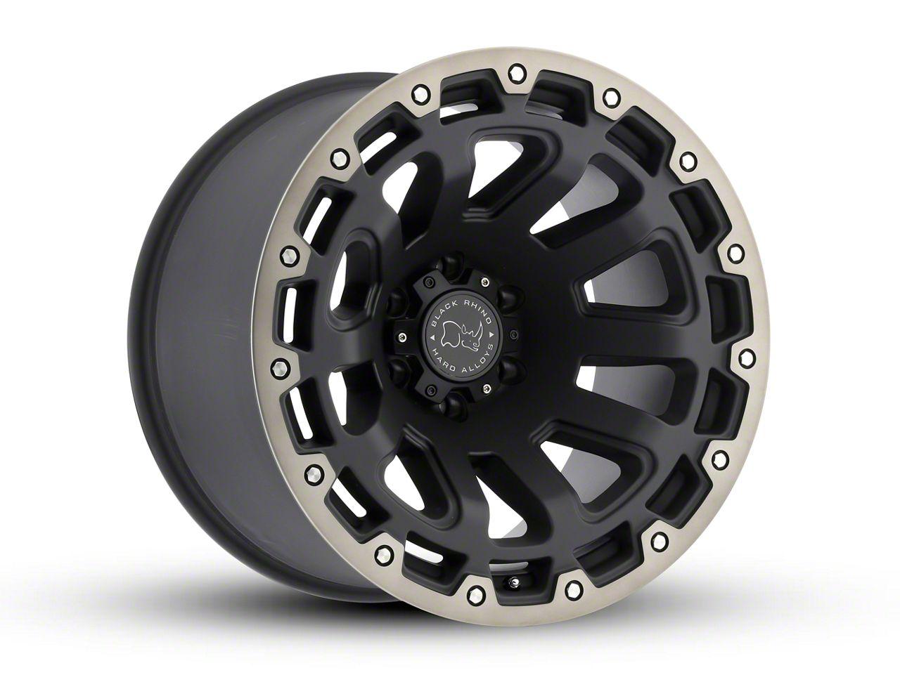 Black Rhino Razorback Matte Black Machined 6-Lug Wheel - 18x9 (99-18 Silverado 1500)
