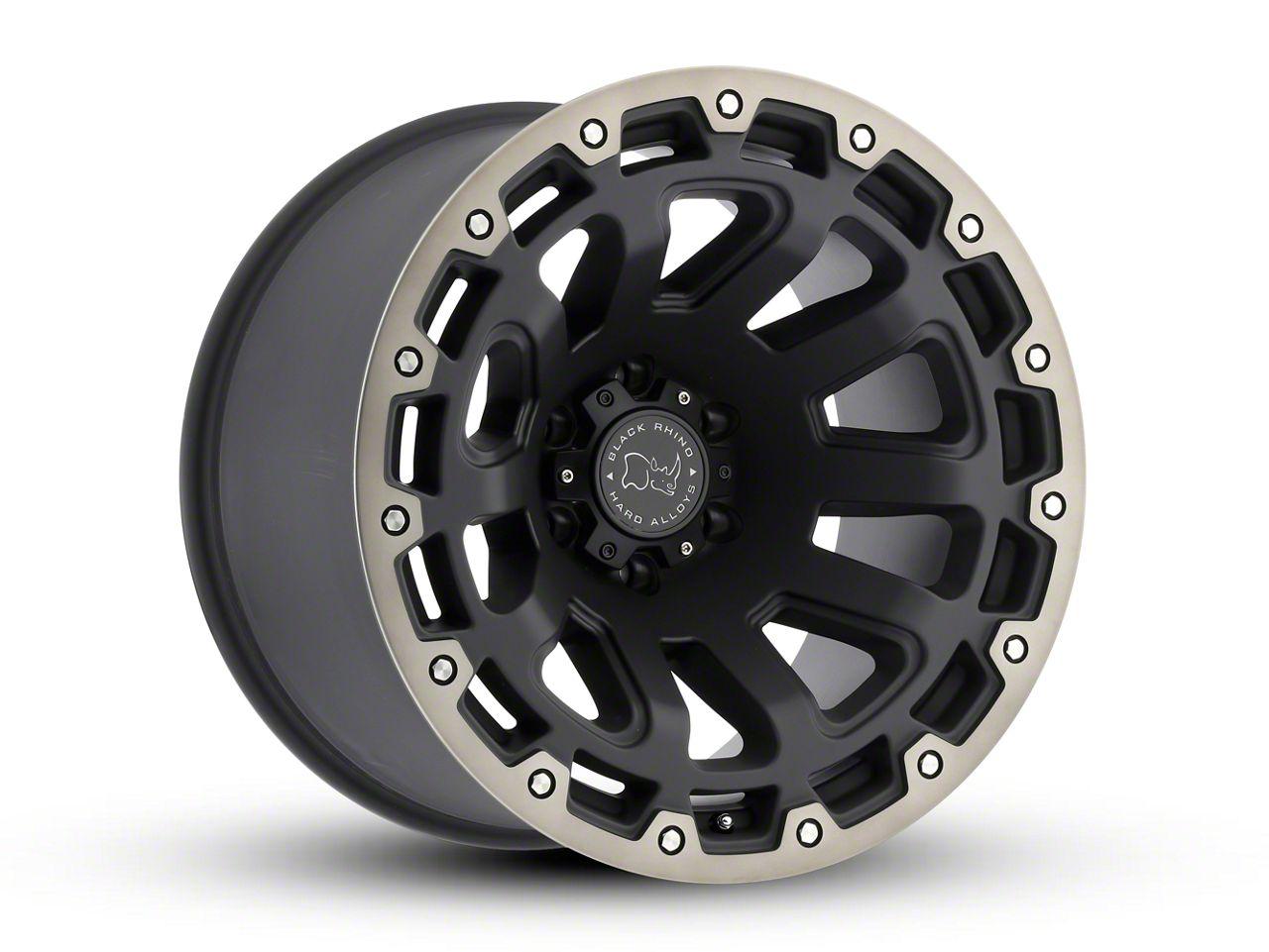 Black Rhino Razorback Matte Black Machined 6-Lug Wheel - 20x9 (99-18 Silverado 1500)