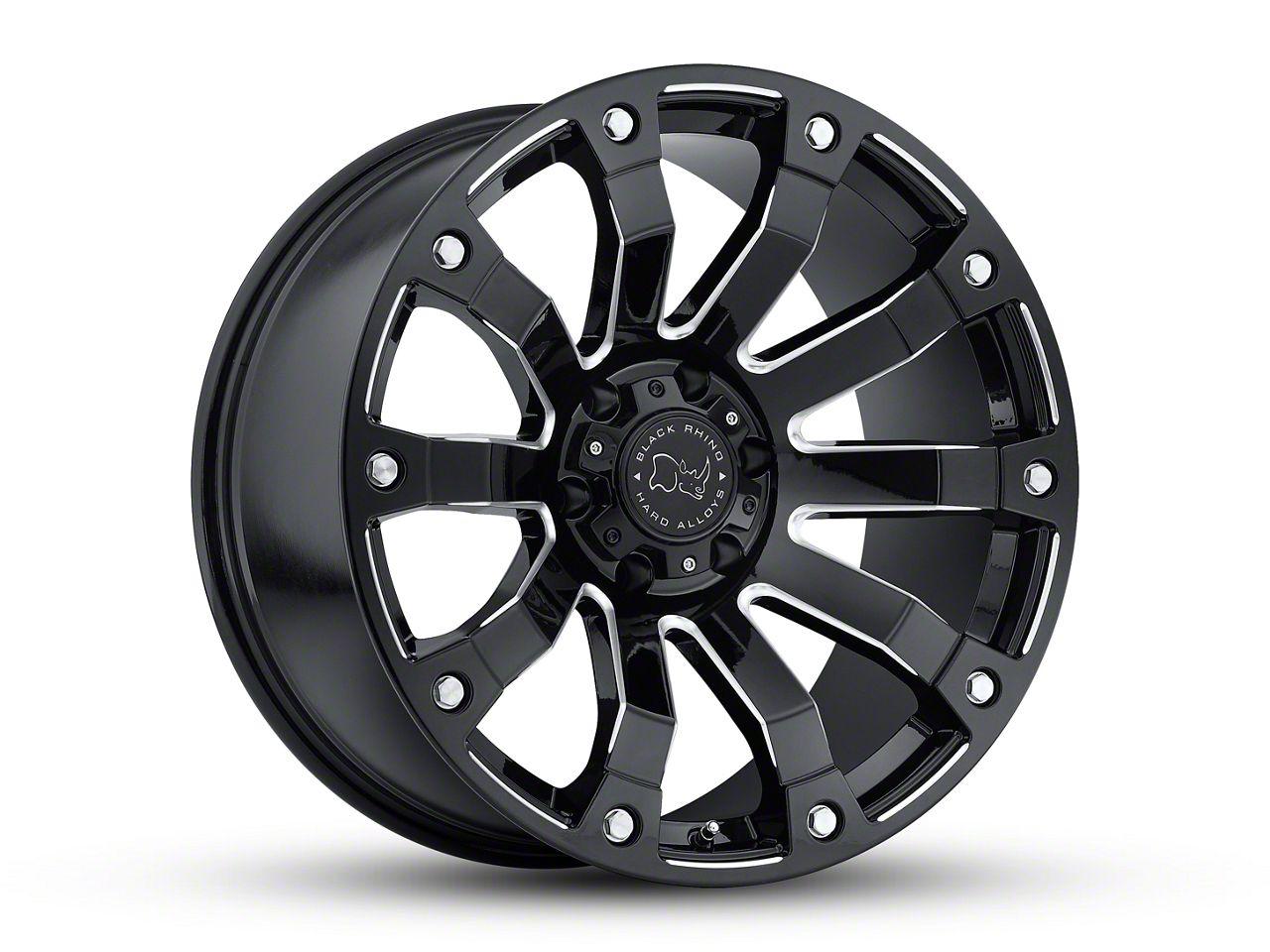 Black Rhino Selkirk Gloss Black Milled 6-Lug Wheel - 17x9 (99-18 Silverado 1500)