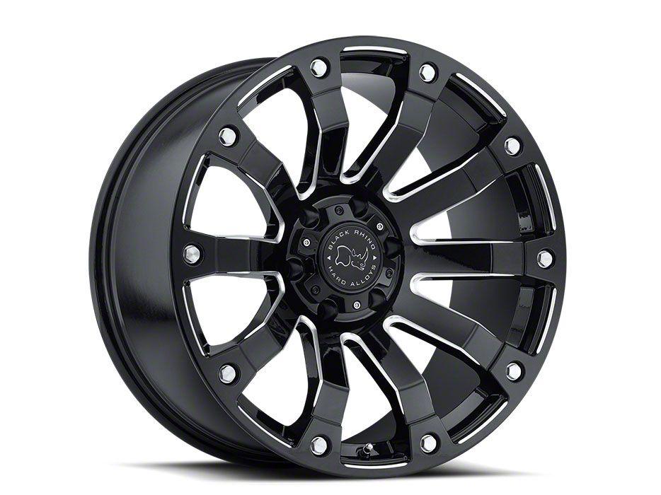 Black Rhino Selkirk Gloss Black Milled 6-Lug Wheel - 18x9 (99-18 Silverado 1500)