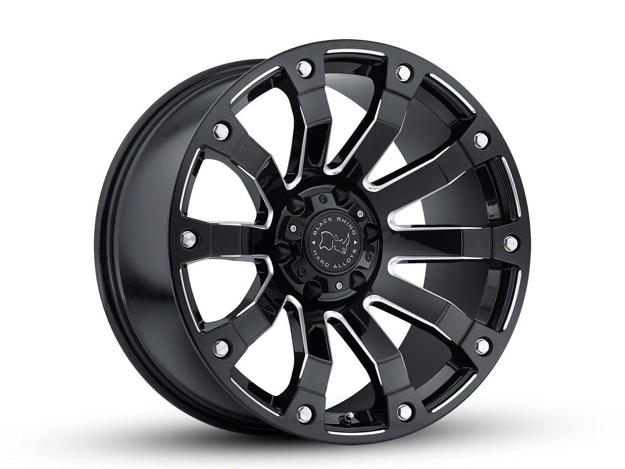 Black Rhino Selkirk Gloss Black Milled 6-Lug Wheel - 20x10 (99-18 Silverado 1500)