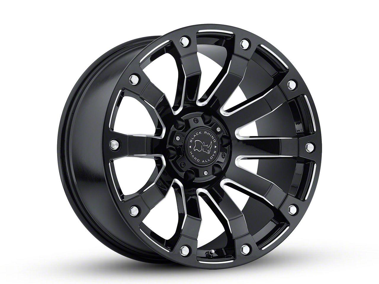 Black Rhino Selkirk Gloss Black Milled 6-Lug Wheel - 20x9 (99-18 Silverado 1500)