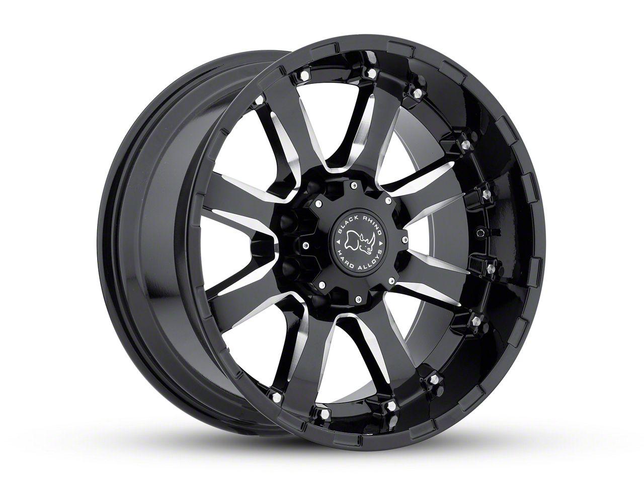 Black Rhino Sierra Gloss Black Milled 6-Lug Wheel - 18x9 (99-18 Silverado 1500)