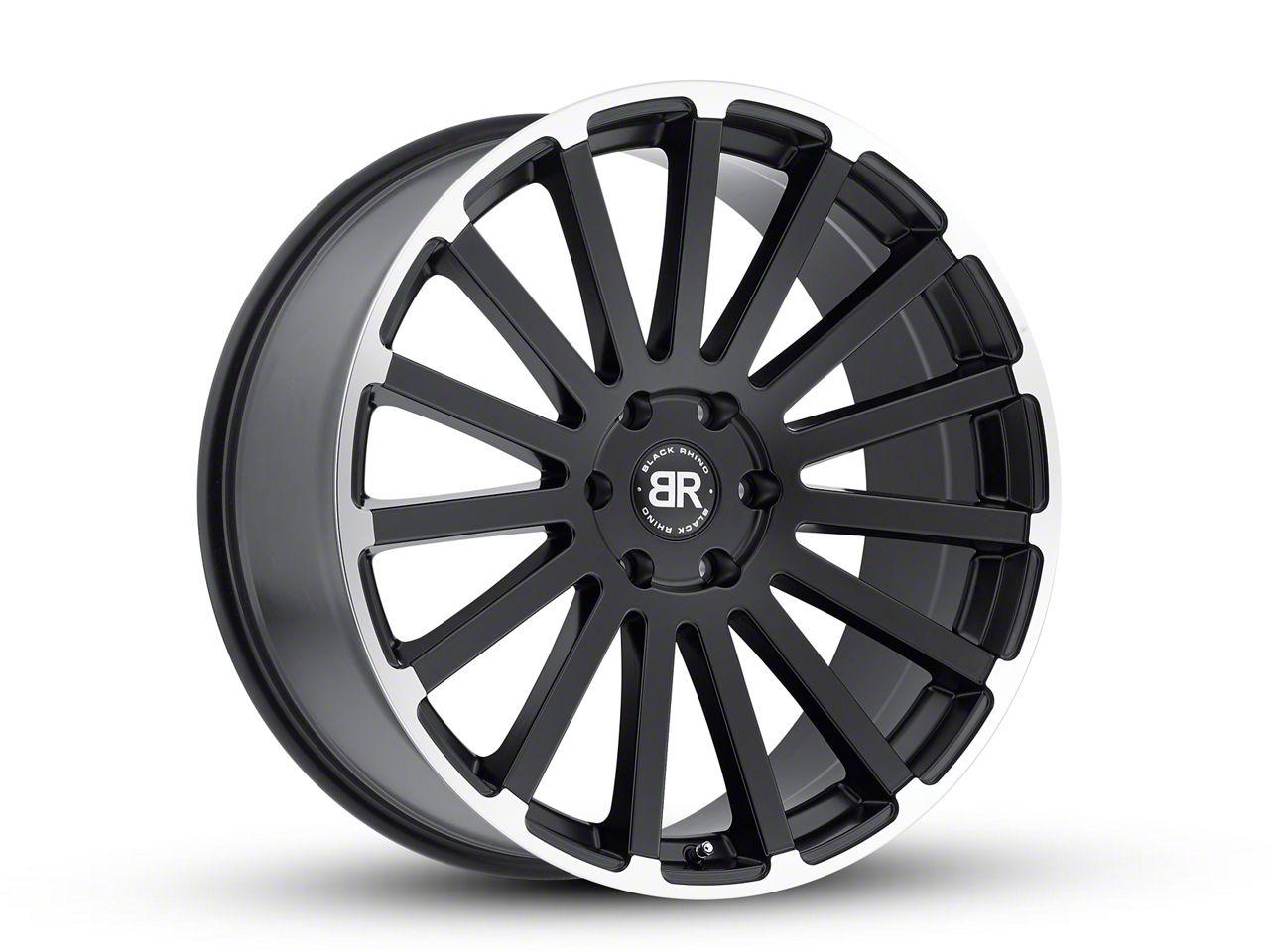 Black Rhino Spear Matte Black Machined 6-Lug Wheel - 20x9 (99-18 Silverado 1500)