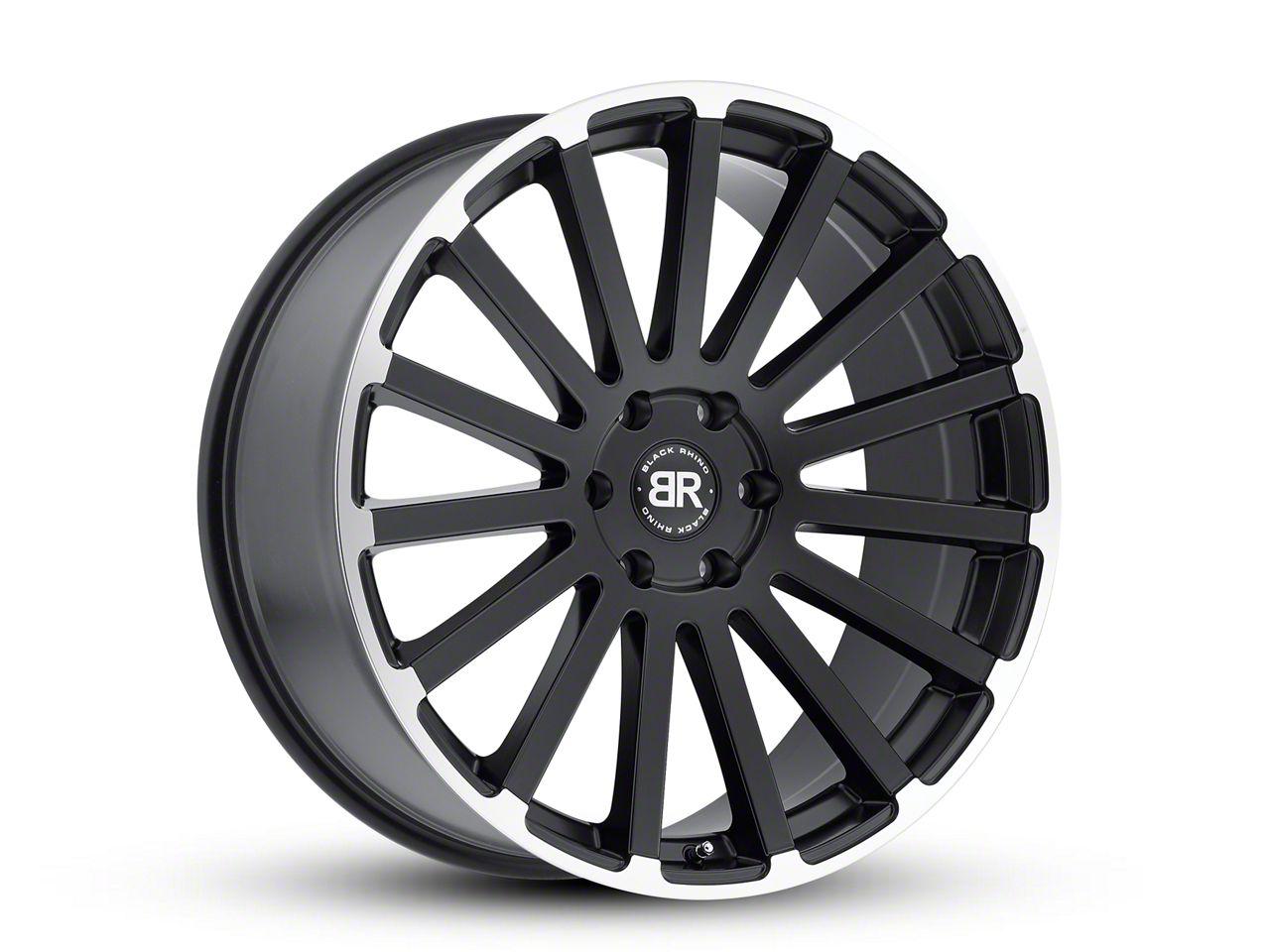 Black Rhino Spear Matte Black Machined 6-Lug Wheel - 22x9.5 (99-18 Silverado 1500)
