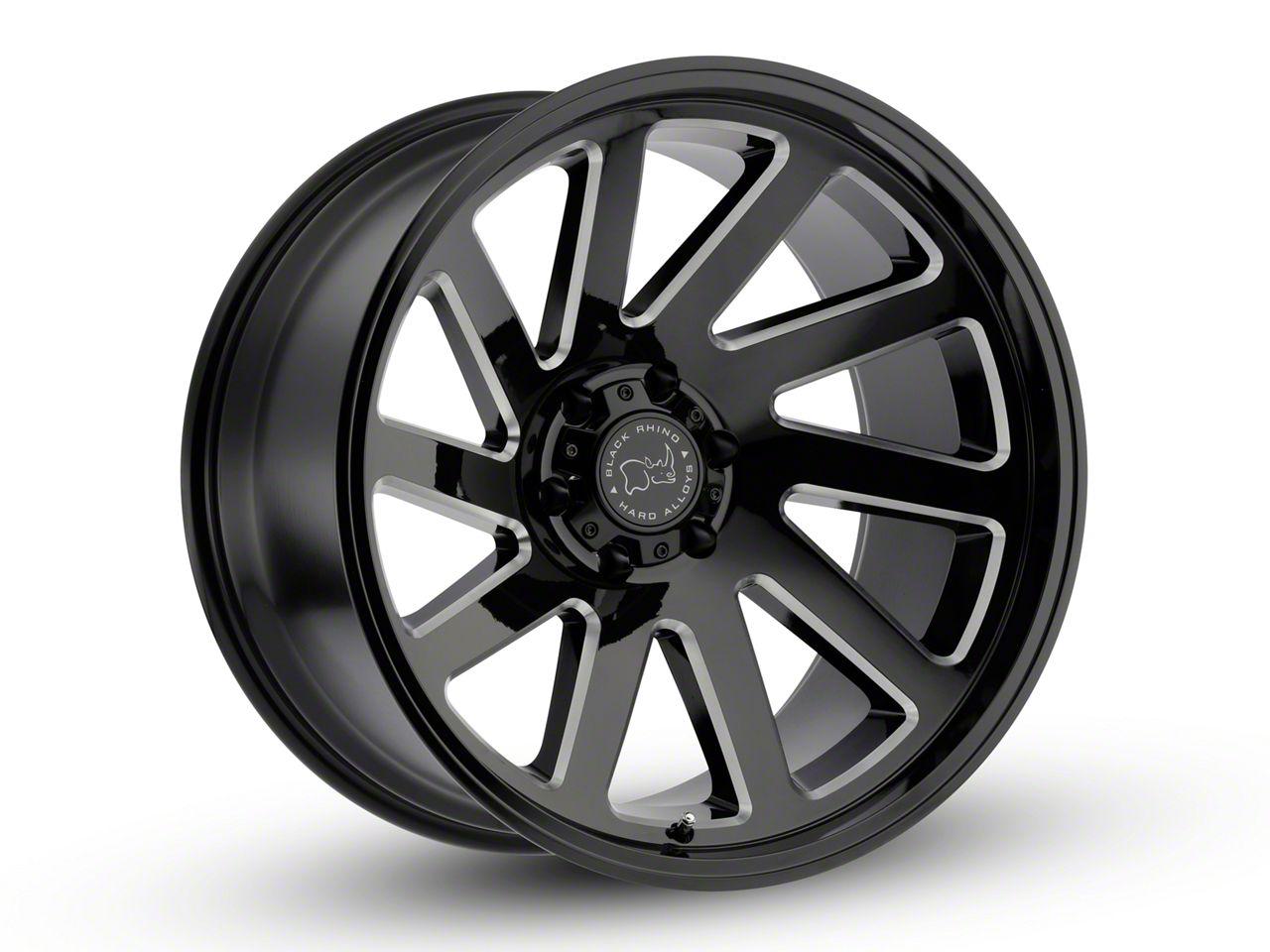 Black Rhino Thrust Gloss Black Milled 6-Lug Wheel - 20x12 (99-18 Silverado 1500)