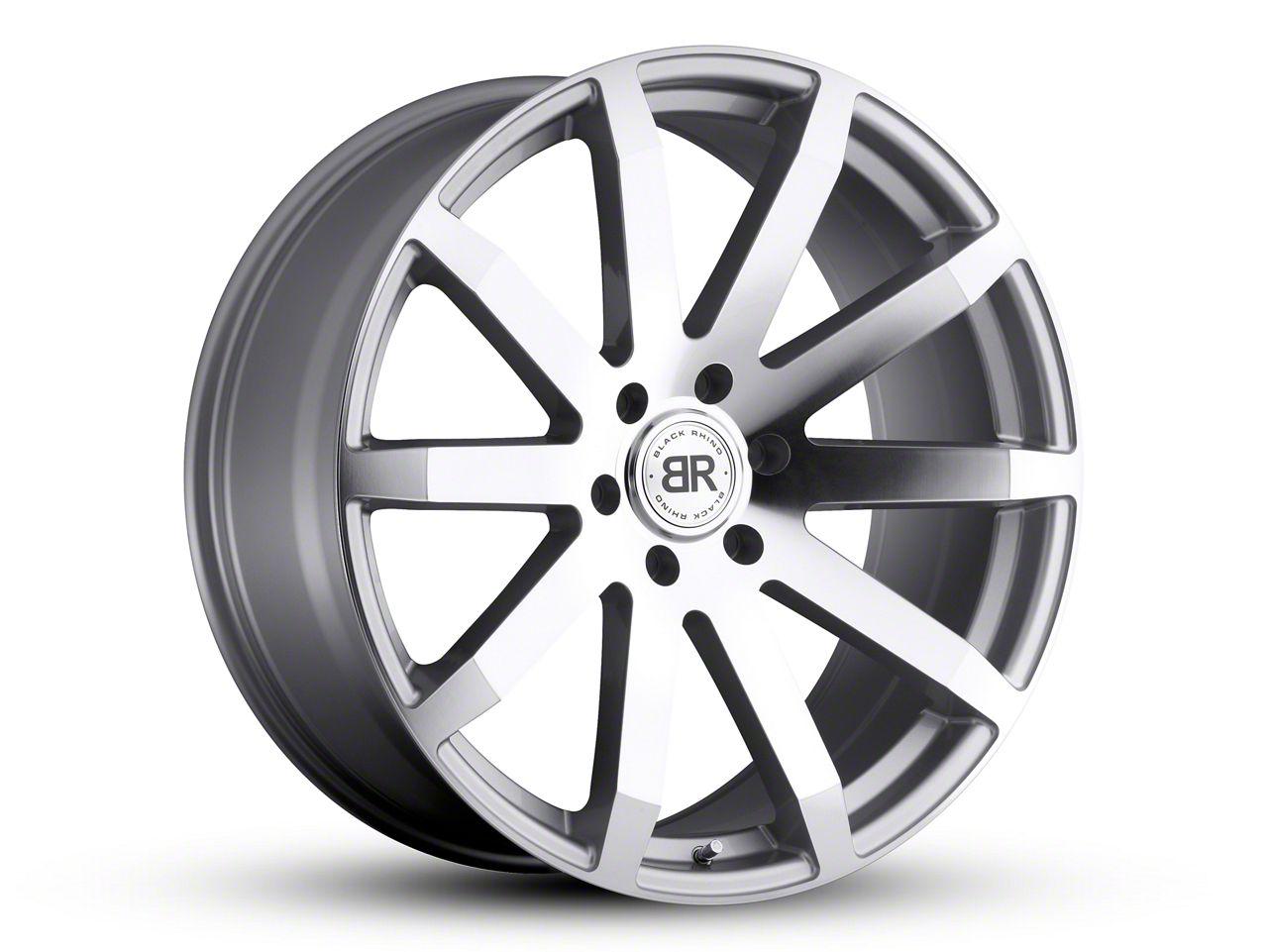 Black Rhino Traverse Silver 6-Lug Wheel - 22x9.5 (99-18 Silverado 1500)