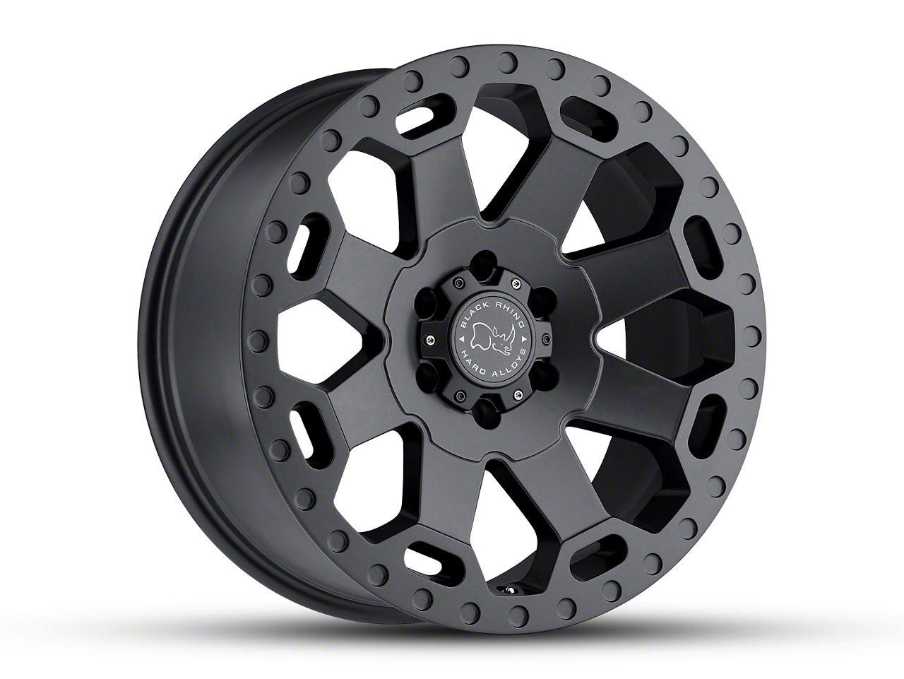 Black Rhino Warlord Matte Gunmetal 6-Lug Wheel - 17x9 (99-18 Silverado 1500)