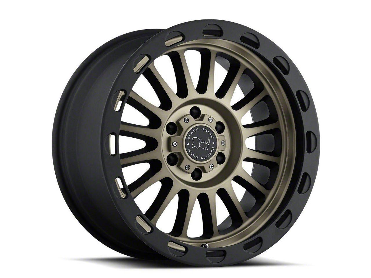 Black Rhino Taupo Matte Black Machined 6-Lug Wheel - 17x9 (99-18 Silverado 1500)