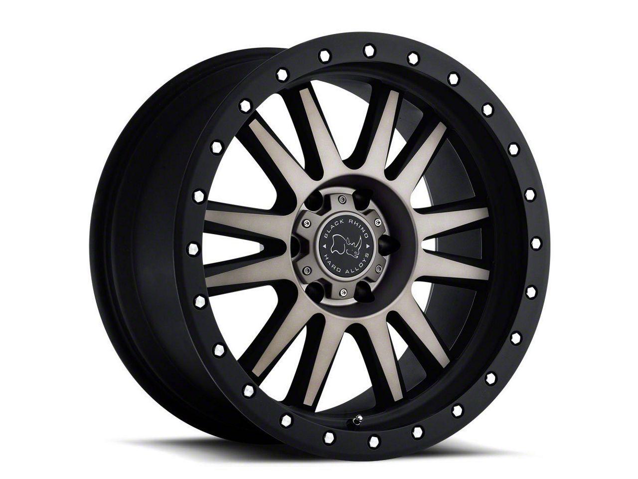 Black Rhino Tanay Matte Black Machined 6-Lug Wheel - 17x9 (07-18 Silverado 1500)