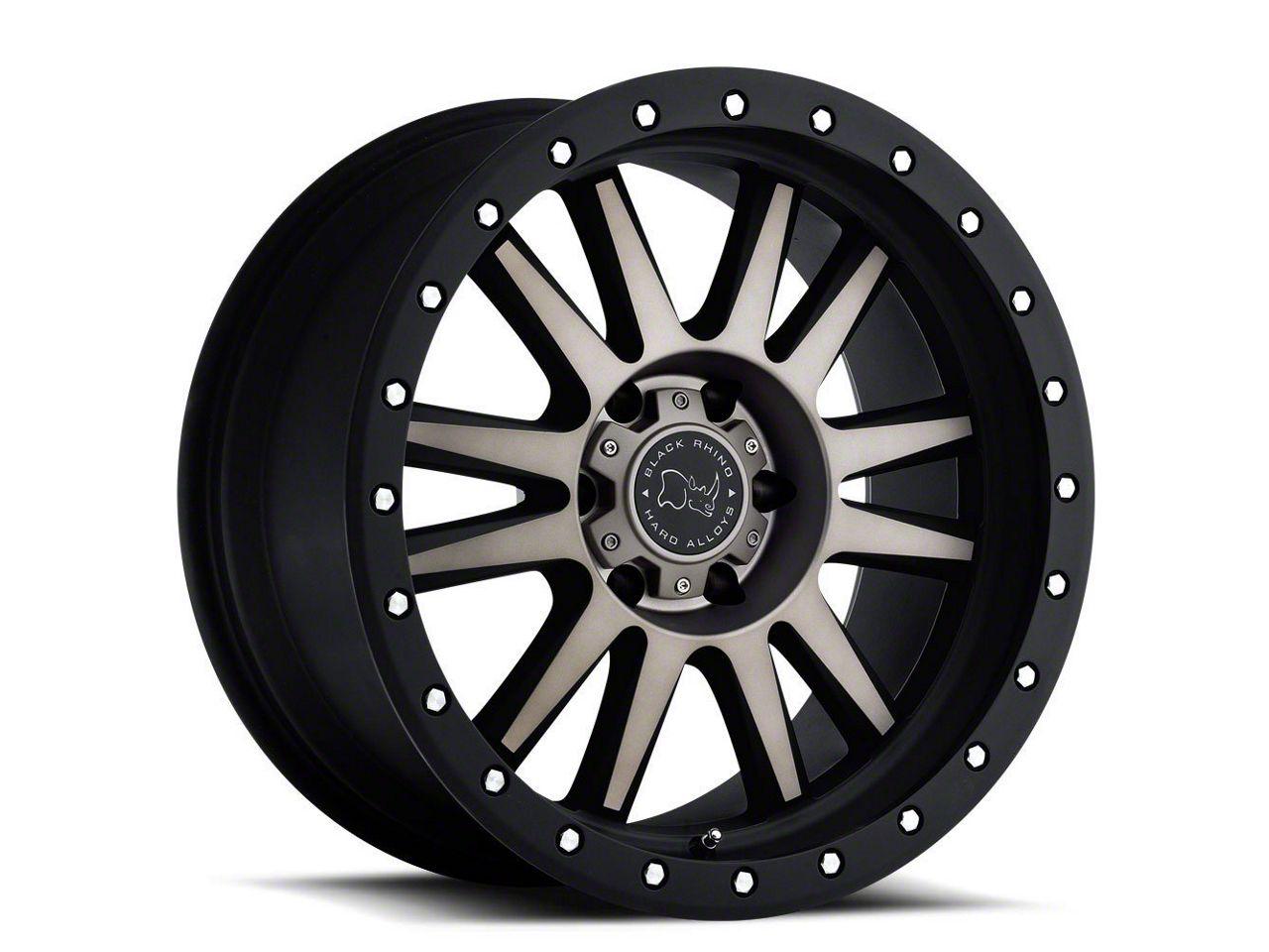 Black Rhino Tanay Matte Black Machined 6-Lug Wheel - 17x9 (99-18 Silverado 1500)
