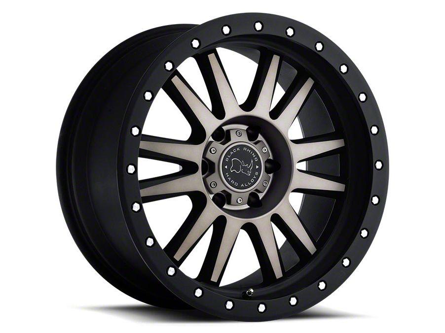 Black Rhino Tanay Matte Black Machined 6-Lug Wheel - 18x9 (99-18 Silverado 1500)