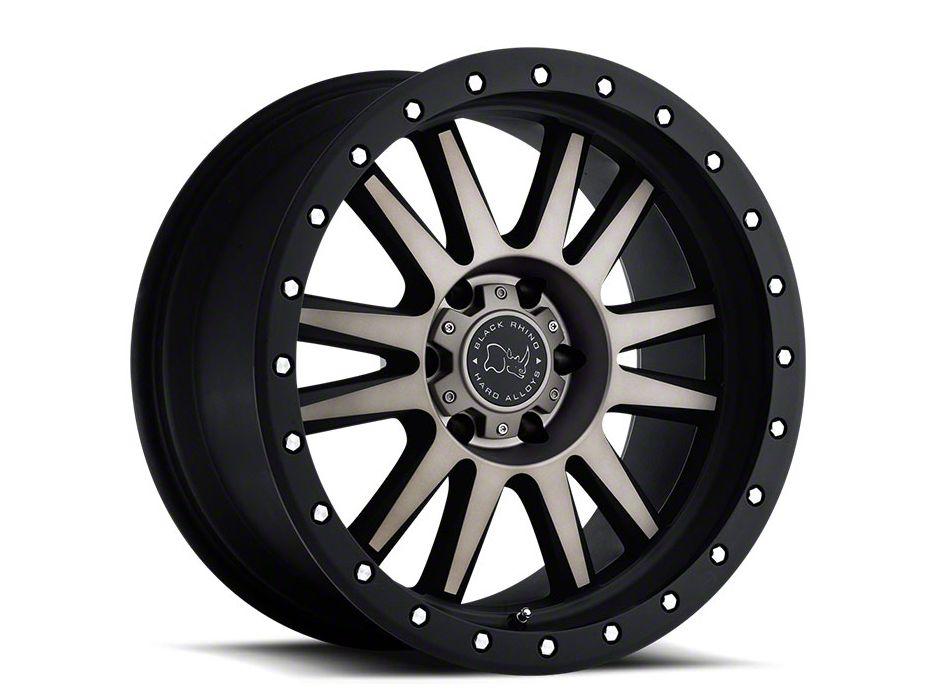 Black Rhino Tanay Matte Black Machined 6-Lug Wheel - 20x10 (99-18 Silverado 1500)