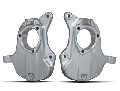Max Trac 2 in. Forged Aluminum Lowering Spindles (14-18 2WD Silverado 1500 w/ Stamped Steel or Cast Aluminum Control Arms)