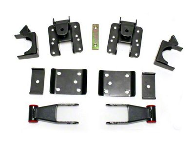 Max Trac Adjustable Rear Flip Lowering Kit - 3-4 in. (07-18 Silverado 1500)