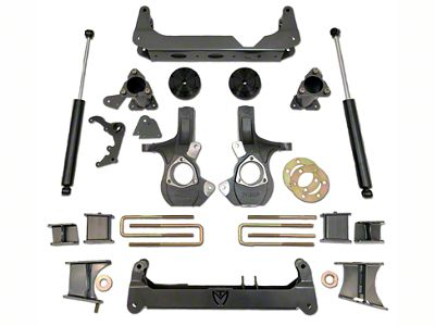 Max Trac MaxPro 7 in. Front / 5 in. Rear Lift Kit (07-13 4WD Silverado 1500)