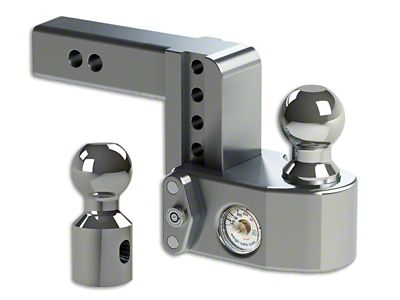 2 in. Receiver Hitch Adjustable Ball Mount w/ Built-In Scale - 4 in. Drop Hitch (99-18 Silverado 1500)