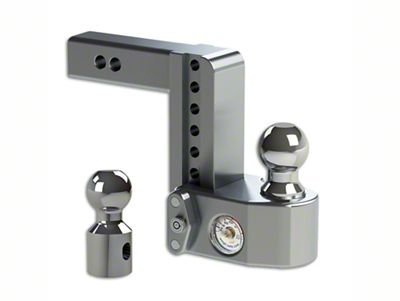 2 in. Receiver Hitch Adjustable Ball Mount w/ Built-In Scale - 6 in. Drop Hitch (99-18 Silverado 1500)