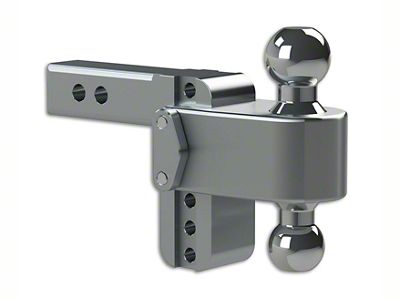 2 in. Receiver Hitch 180 Degree Adjustable Ball Mount - 4 in. Drop Hitch (99-18 Silverado 1500)