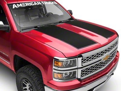 Matte Black Hood Decal (14-18 Silverado 1500)