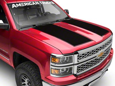 Black Hood Decal (14-18 Silverado 1500)