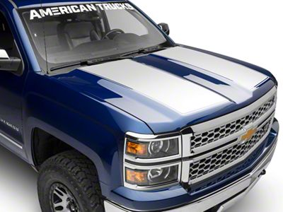 White Hood Decal (14-18 Silverado 1500)