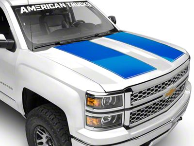 Blue Hood Decal (14-18 Silverado 1500)