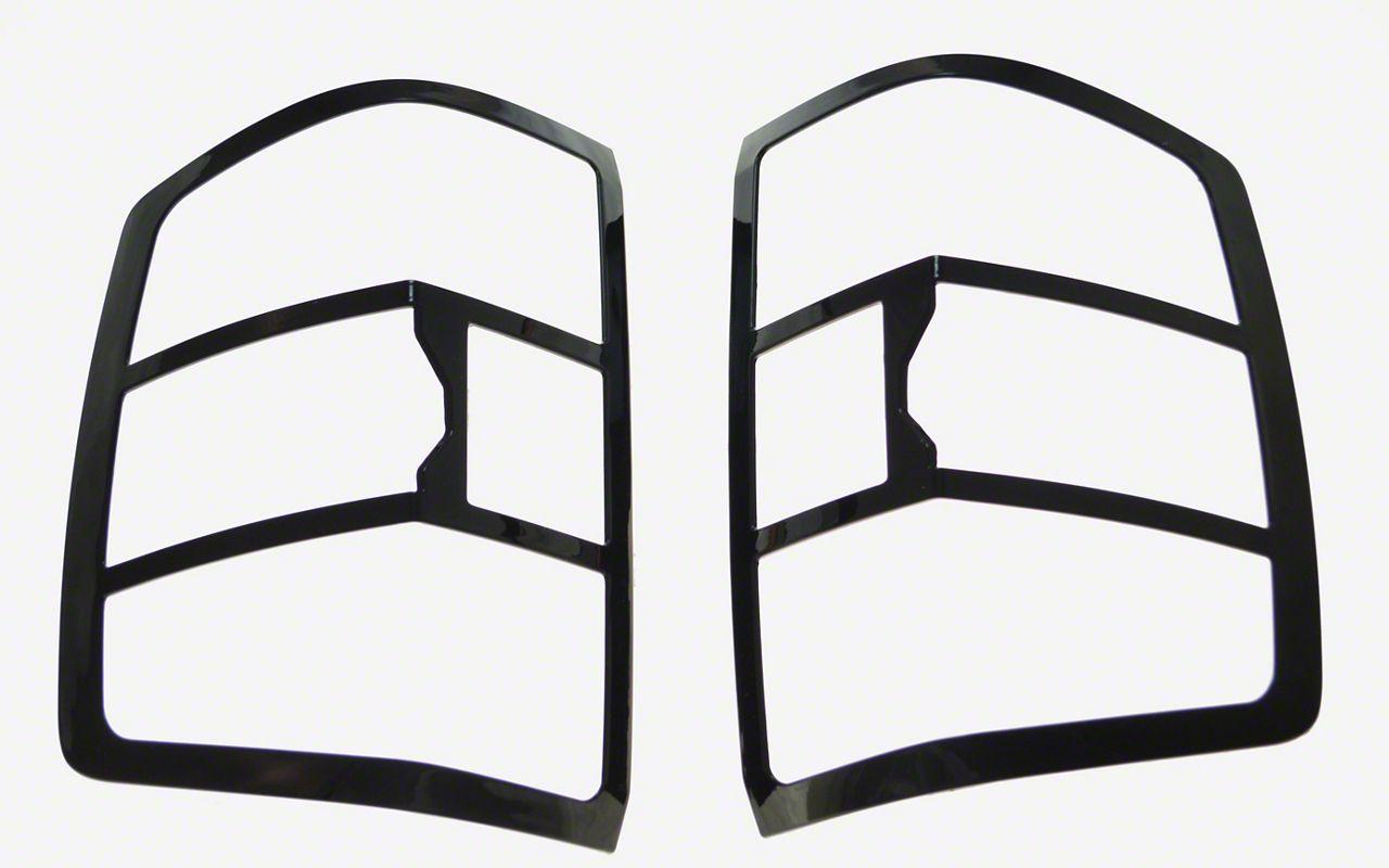Black Horse Off Road Tail Light Bezels - Black (14-18 Silverado 1500, Excluding LTZ)