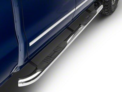 Black Horse Off Road 3 in. Round Side Step Bars - Polished (14-18 Silverado 1500 Double Cab, Crew Cab)