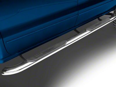 Black Horse Off Road 4 in. Oval Side Step Bars - Polished (14-18 Silverado 1500 Crew Cab)