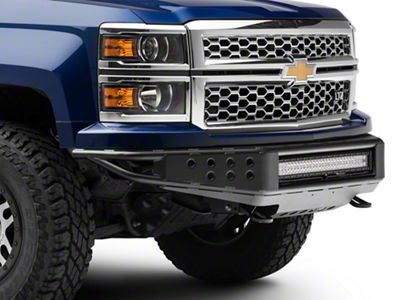 RedRock 4x4 Tubular Off-Road Front Bumper w/ 30 in. LED Light Bar (14-15 Silverado 1500)