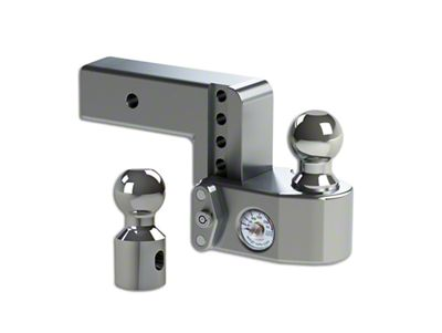 Weigh Safe 2.5 in. Receiver Hitch Adjustable Ball Mount w/ Built-In Scale - 4 in. Drop Hitch (99-18 Silverado 1500)