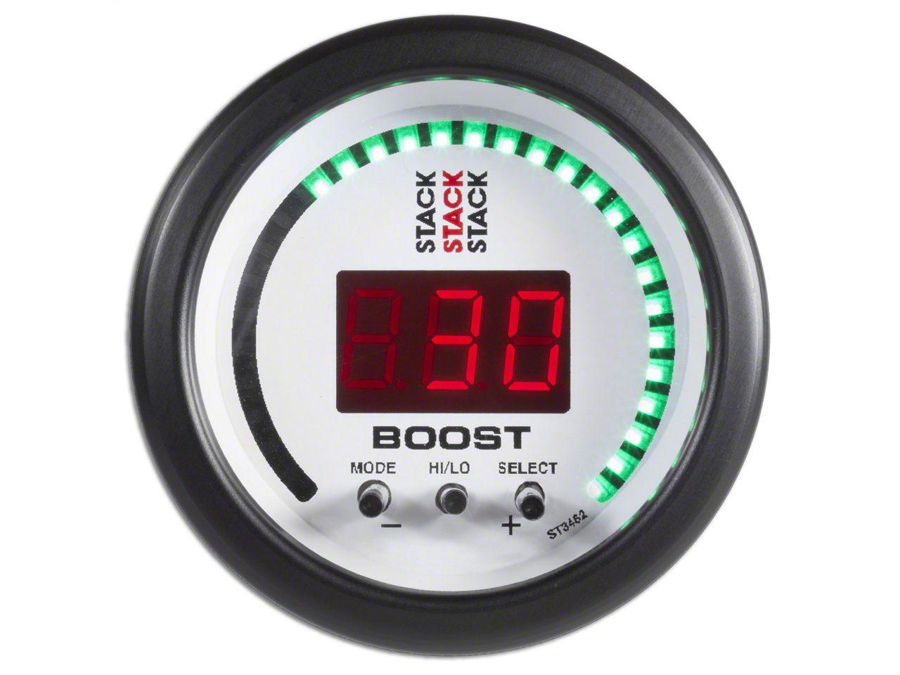 Auto Meter Stack Boost Controller Gauge - White (07-18 Silverado 1500)