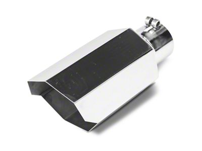 Barricade 5 in. Stagger Cut Exhaust Tip - Polished - 3.0 in. Connection (99-18 Silverado 1500)