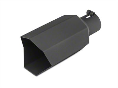 Barricade 5 in. Big Mouth Exhaust Tip - Black - 2.75 in. Connection (99-18 Silverado 1500)