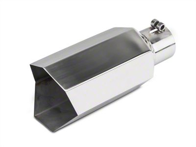Barricade 5 in. Big Mouth Exhaust Tip - Polished - 3.0 in. Connection (99-18 Silverado 1500)