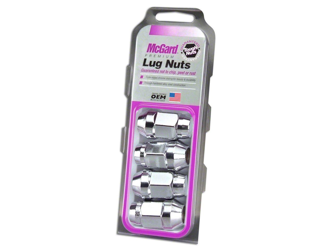 McGard Chrome Bulge Cone Seat Style Lug Nut Set - 14mm x 1.5 in. - Set of Four (99-18 Silverado 1500)